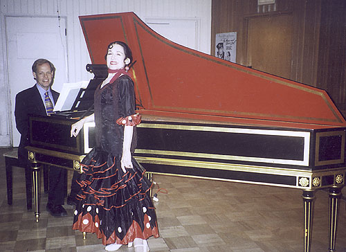 Inesita and Patrick Lindley just before their concert together in Pasadena 2001.