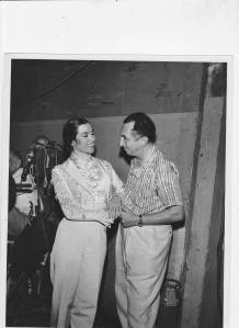 Inesita with Nick Castle on the set of Here Come The Girls 1952