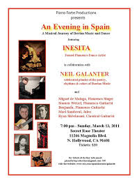 An Evening in Spain Secret Rose Theater Poster 2011