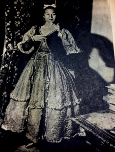 Inesita in Maja de Goya Costume for El Espanol Madrid.
