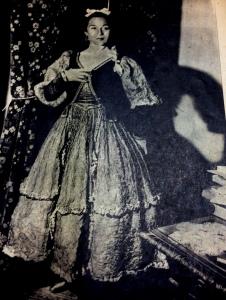 Inesita in Maja de Goya Costume for El Espanol Madrid.