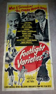 Large Poster pf Foot Light Varieites with Inesita and Cast and Jack Parr 1950