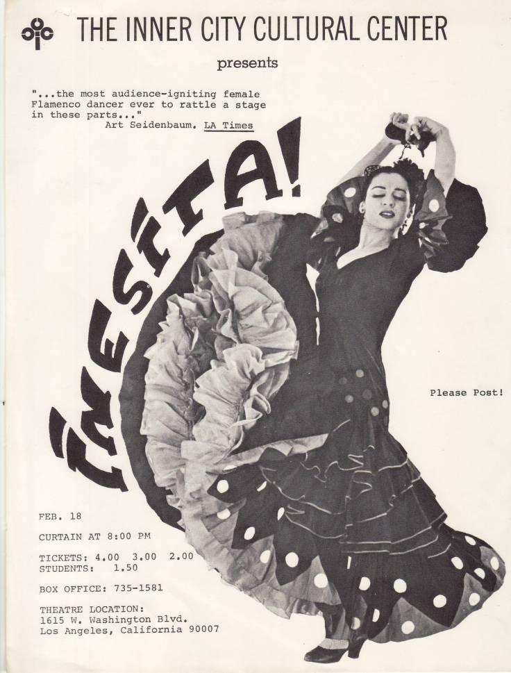 Flyer for Inner City Cultural Center 1968