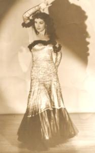 Inesita in beaded Costume with Madronos c.1942