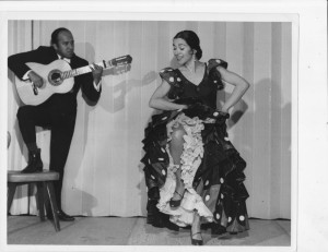 Inesita and Eugenio Cordero at a performance 1966 (1100 x 850)
