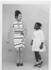 Inesita teaching a deaf child the rhythm of Flamenco 1972