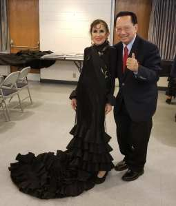 Inesita and BIll Yee after the performance May 25, 2019