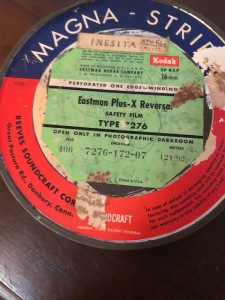 Film Reel of the work print made during shoot in 1962/63
